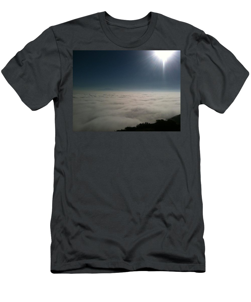 Ortega Highway Men's T-Shirt (Athletic Fit) featuring the photograph Sunrise From The Ortega by Christine Owens