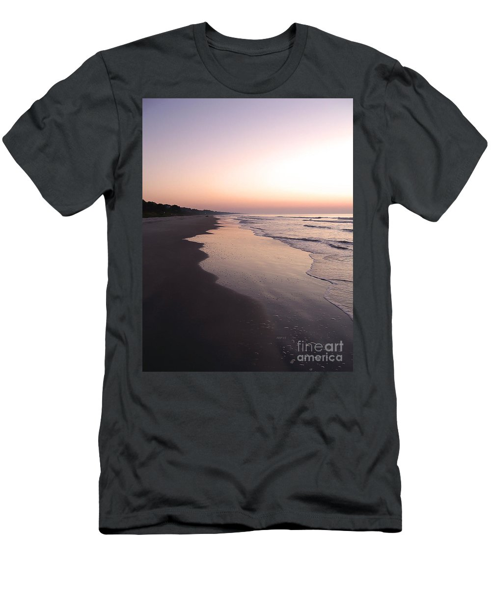 Hilton Head Island Men's T-Shirt (Athletic Fit) featuring the photograph Sunrise On Hilton Head Island by Phil Perkins