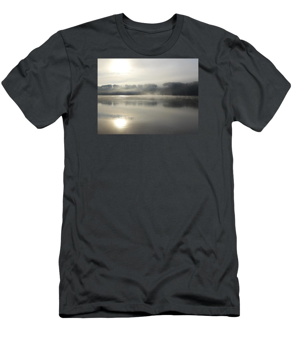 Hudson River Men's T-Shirt (Athletic Fit) featuring the photograph Sunrise On The Hudson River No 9 by Cheryl Kurman