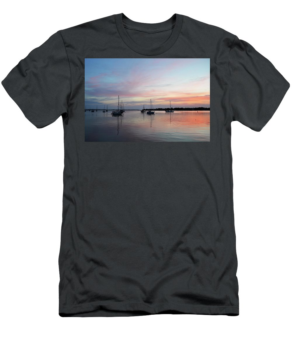 Atlantic Ocean Men's T-Shirt (Athletic Fit) featuring the photograph Sunrise Over The Atlantic Ocean by Shelley Wood