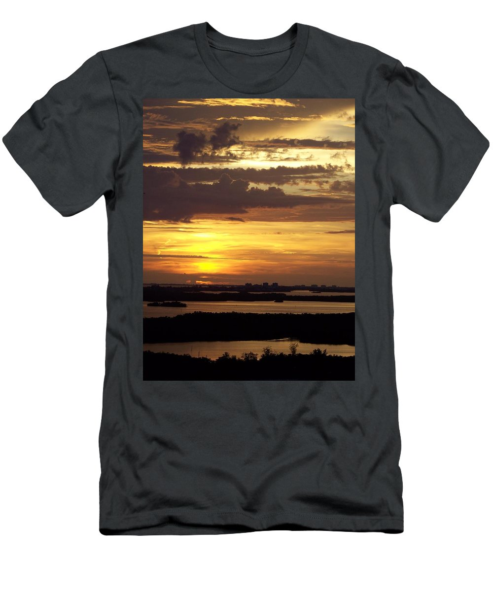 Sunset Men's T-Shirt (Athletic Fit) featuring the photograph Sunset 0001 by Laurie Paci