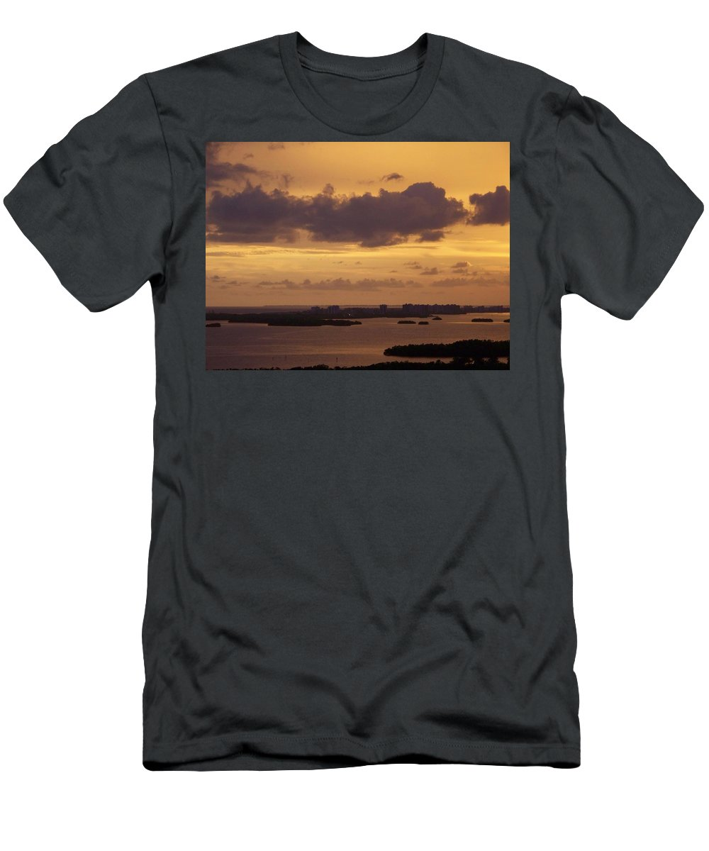 Sunset Men's T-Shirt (Athletic Fit) featuring the photograph Sunset 0004 by Laurie Paci