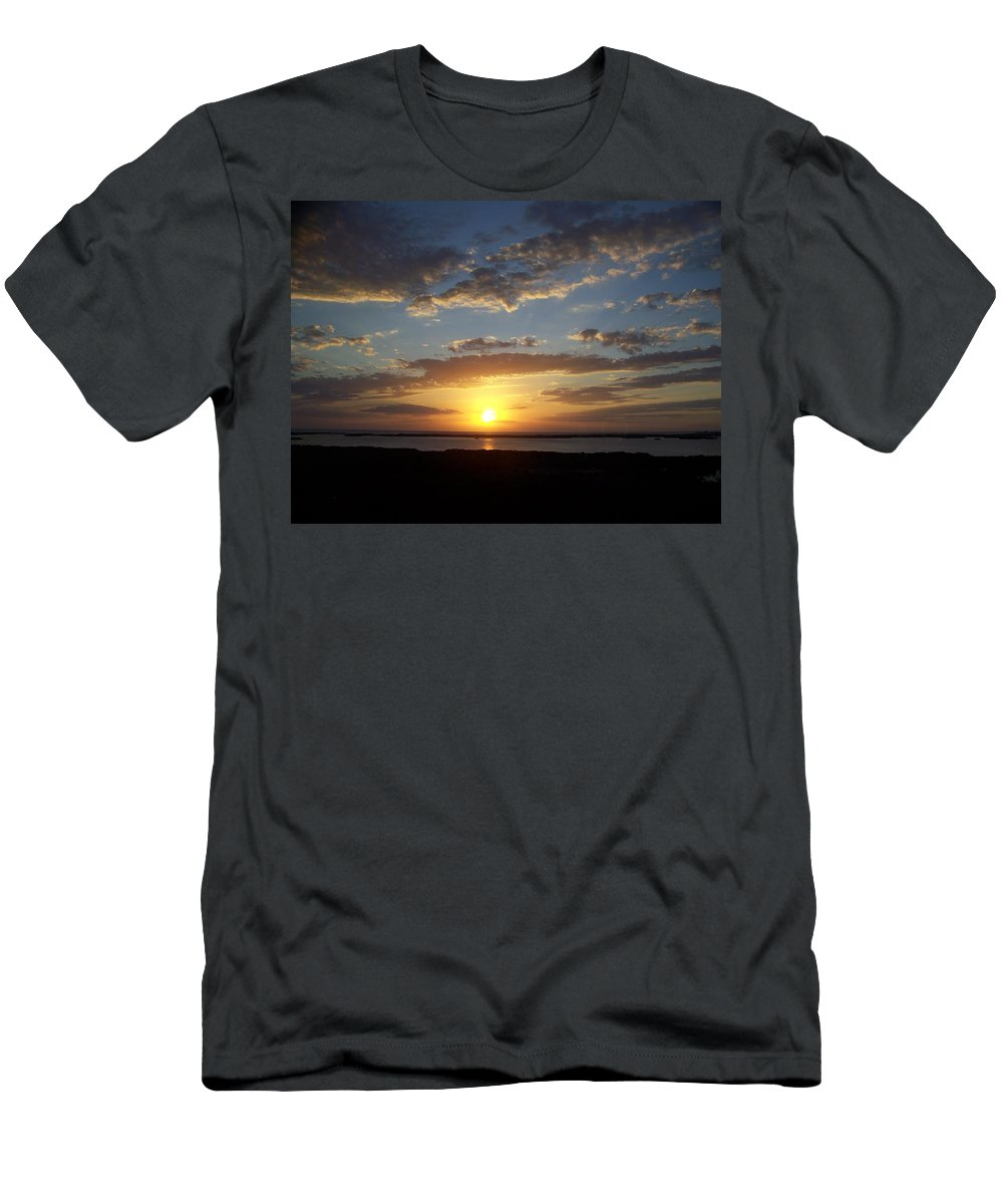 Sunset Men's T-Shirt (Athletic Fit) featuring the photograph Sunset 0007 by Laurie Paci
