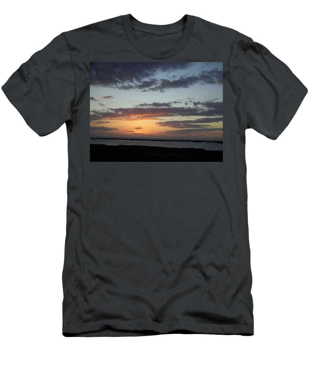 Sunset Men's T-Shirt (Athletic Fit) featuring the photograph Sunset 0008 by Laurie Paci