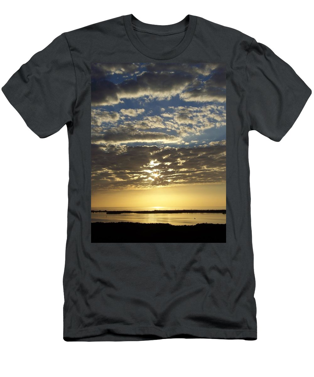Sunset Men's T-Shirt (Athletic Fit) featuring the photograph Sunset 0011 by Laurie Paci