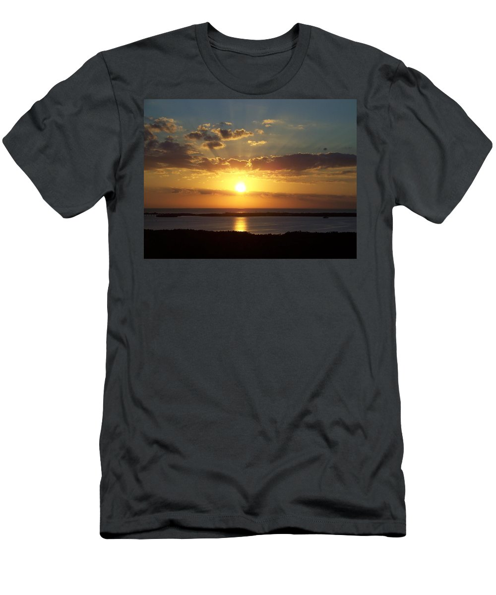 Sunset Men's T-Shirt (Athletic Fit) featuring the photograph Sunset 0012 by Laurie Paci