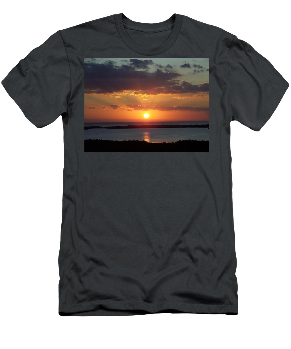 Sunset Men's T-Shirt (Athletic Fit) featuring the photograph Sunset 0013 by Laurie Paci