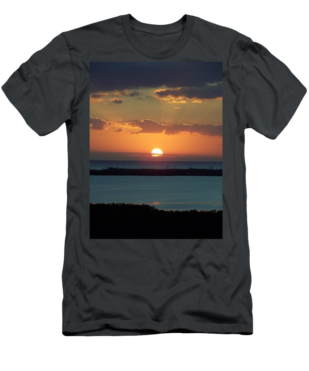 Sunset Men's T-Shirt (Athletic Fit) featuring the photograph Sunset 0014 by Laurie Paci