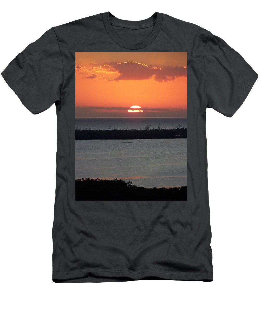Sunset Men's T-Shirt (Athletic Fit) featuring the photograph Sunset 0015 by Laurie Paci