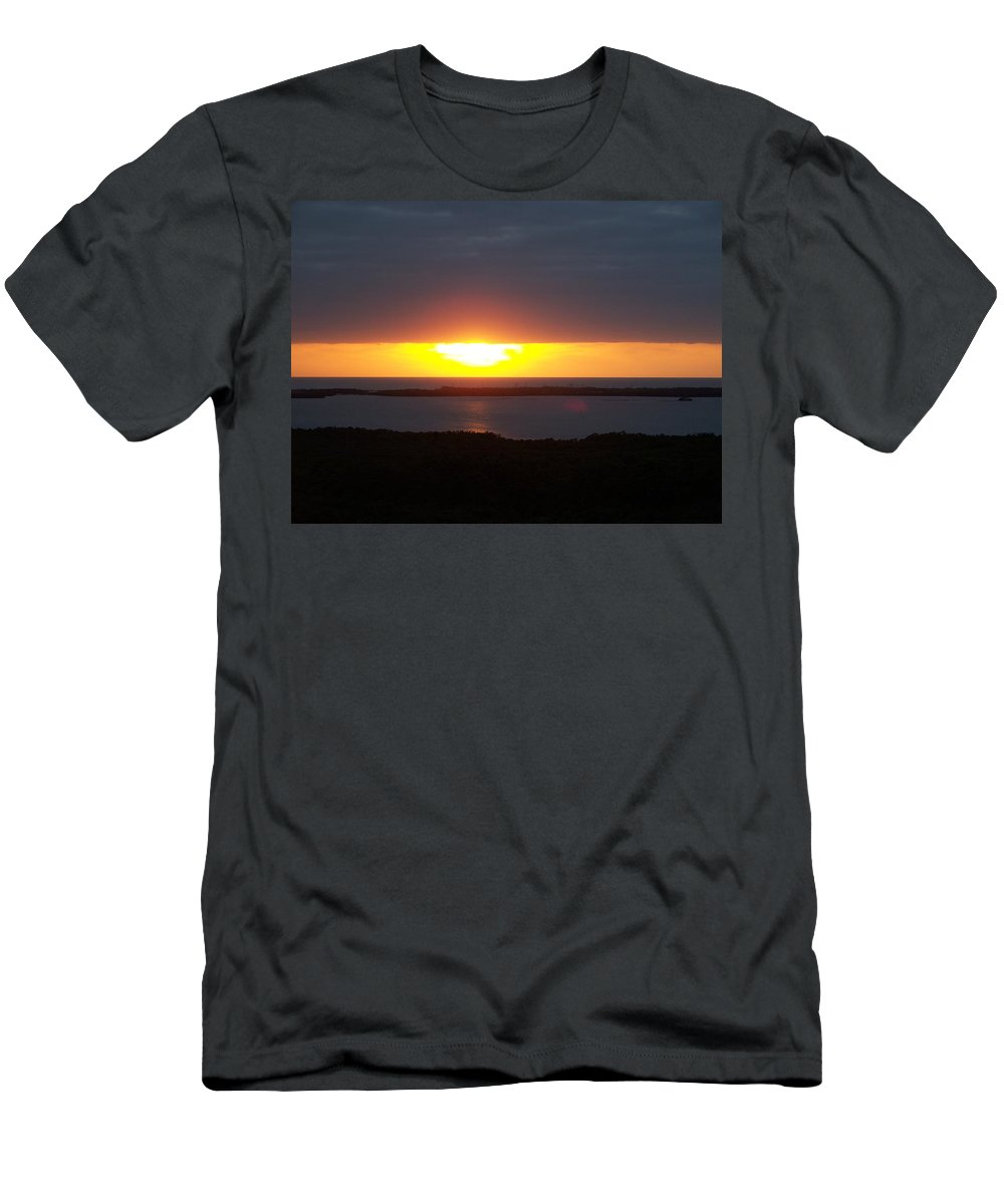 Sunset Men's T-Shirt (Athletic Fit) featuring the photograph Sunset 0016 by Laurie Paci