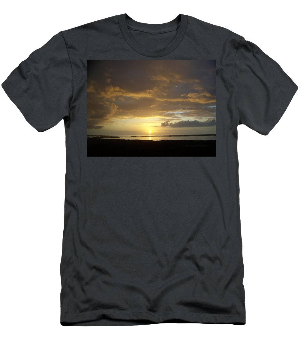 Sunset Men's T-Shirt (Athletic Fit) featuring the photograph Sunset 0018 by Laurie Paci