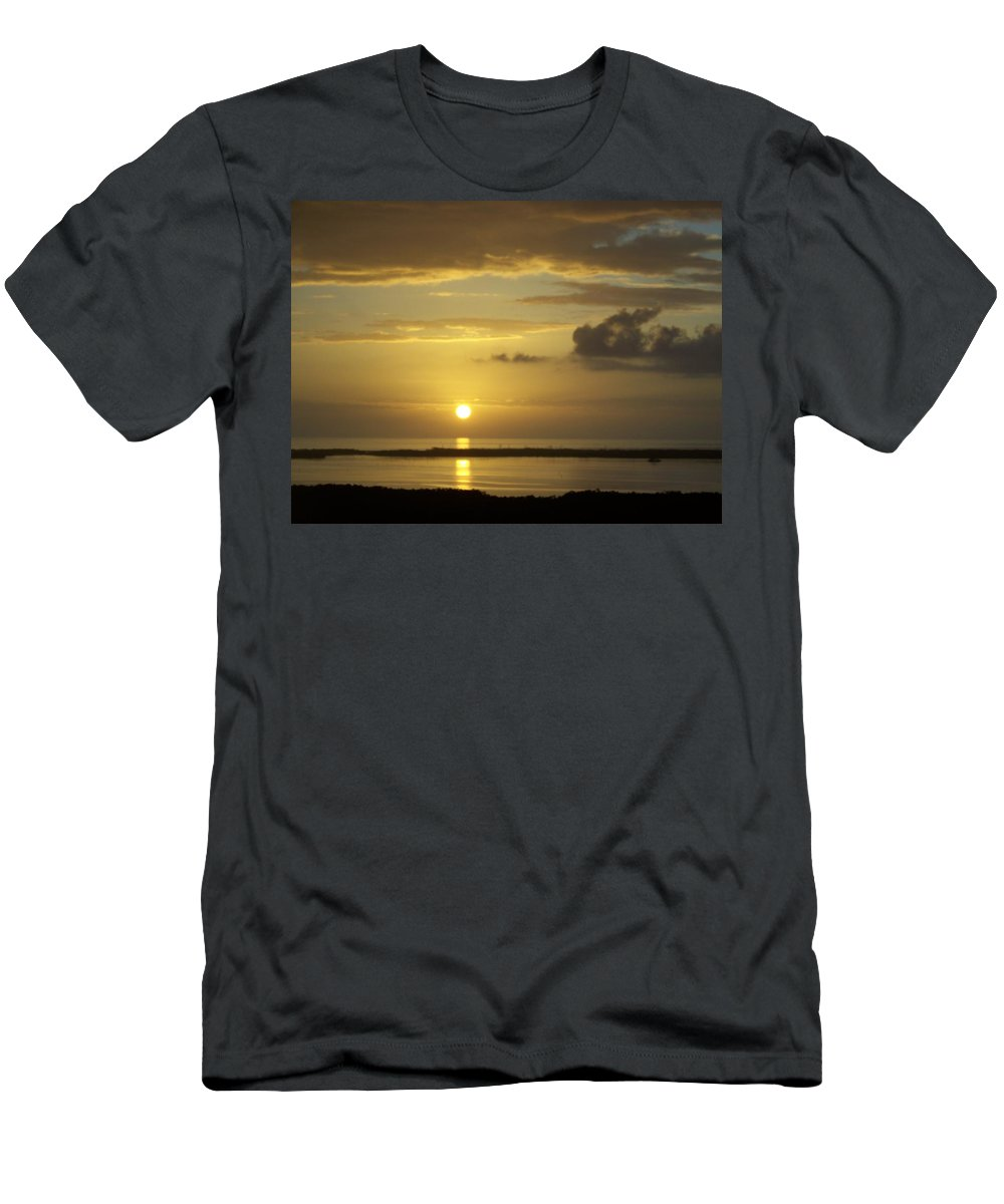 Sunset Men's T-Shirt (Athletic Fit) featuring the photograph Sunset 0019 by Laurie Paci