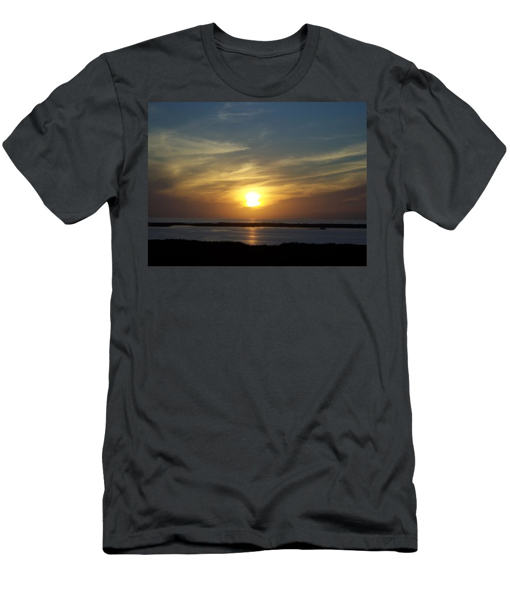 Sunset Men's T-Shirt (Athletic Fit) featuring the photograph Sunset 0031 by Laurie Paci