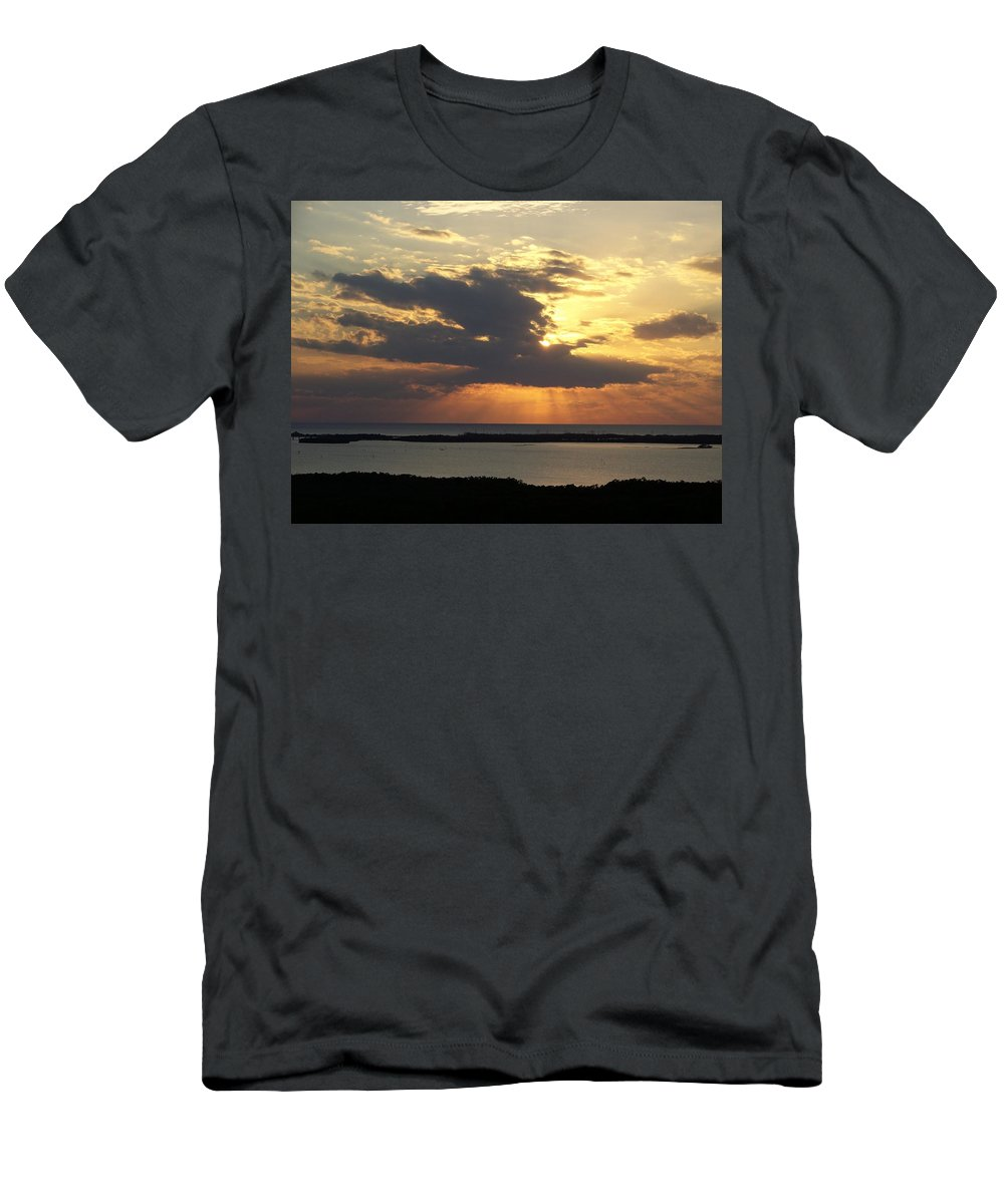 Sunset Men's T-Shirt (Athletic Fit) featuring the photograph Sunset 0036 by Laurie Paci