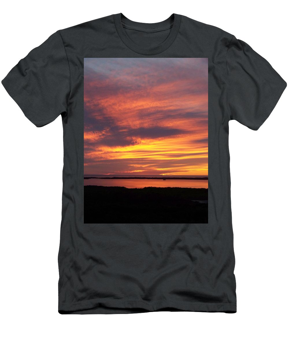 Sunset Men's T-Shirt (Athletic Fit) featuring the photograph Sunset 0037 by Laurie Paci