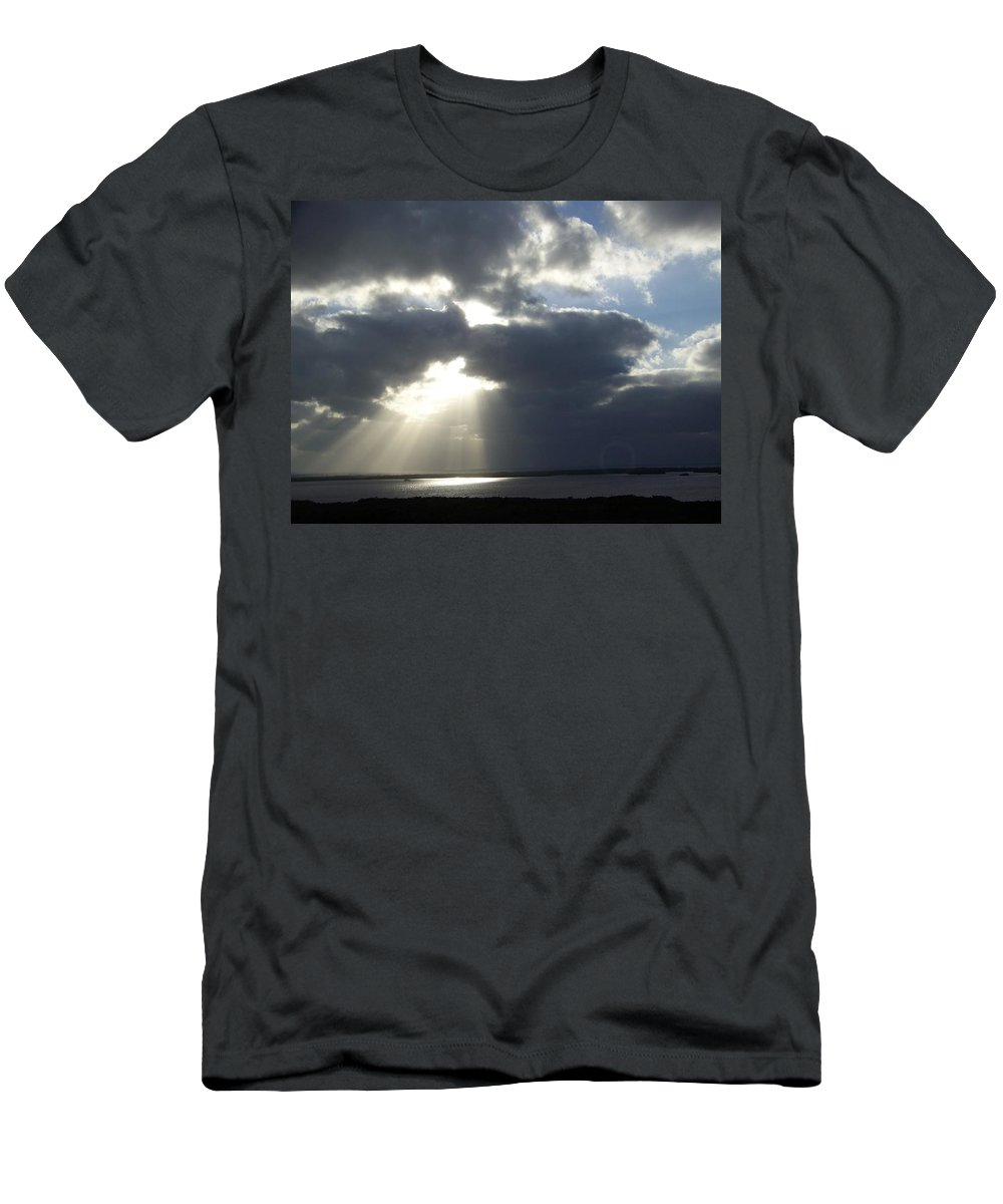 Sunset Men's T-Shirt (Athletic Fit) featuring the photograph Sunset 0041 by Laurie Paci