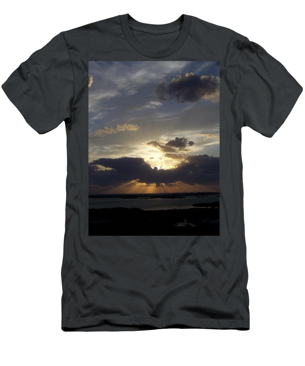 Sunset Men's T-Shirt (Athletic Fit) featuring the photograph Sunset 0044 by Laurie Paci