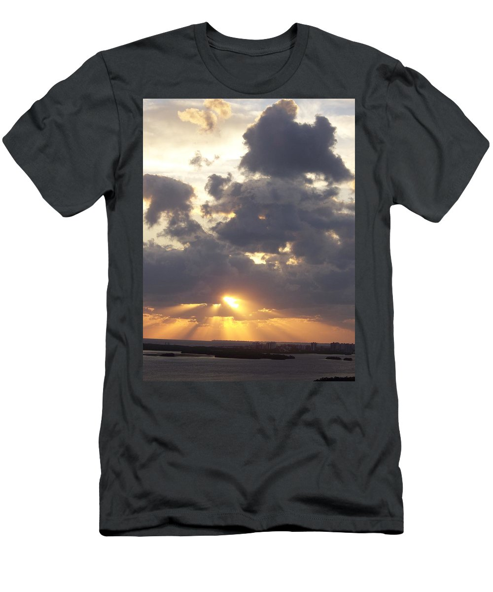 Sunset Men's T-Shirt (Athletic Fit) featuring the photograph Sunset 0045 by Laurie Paci