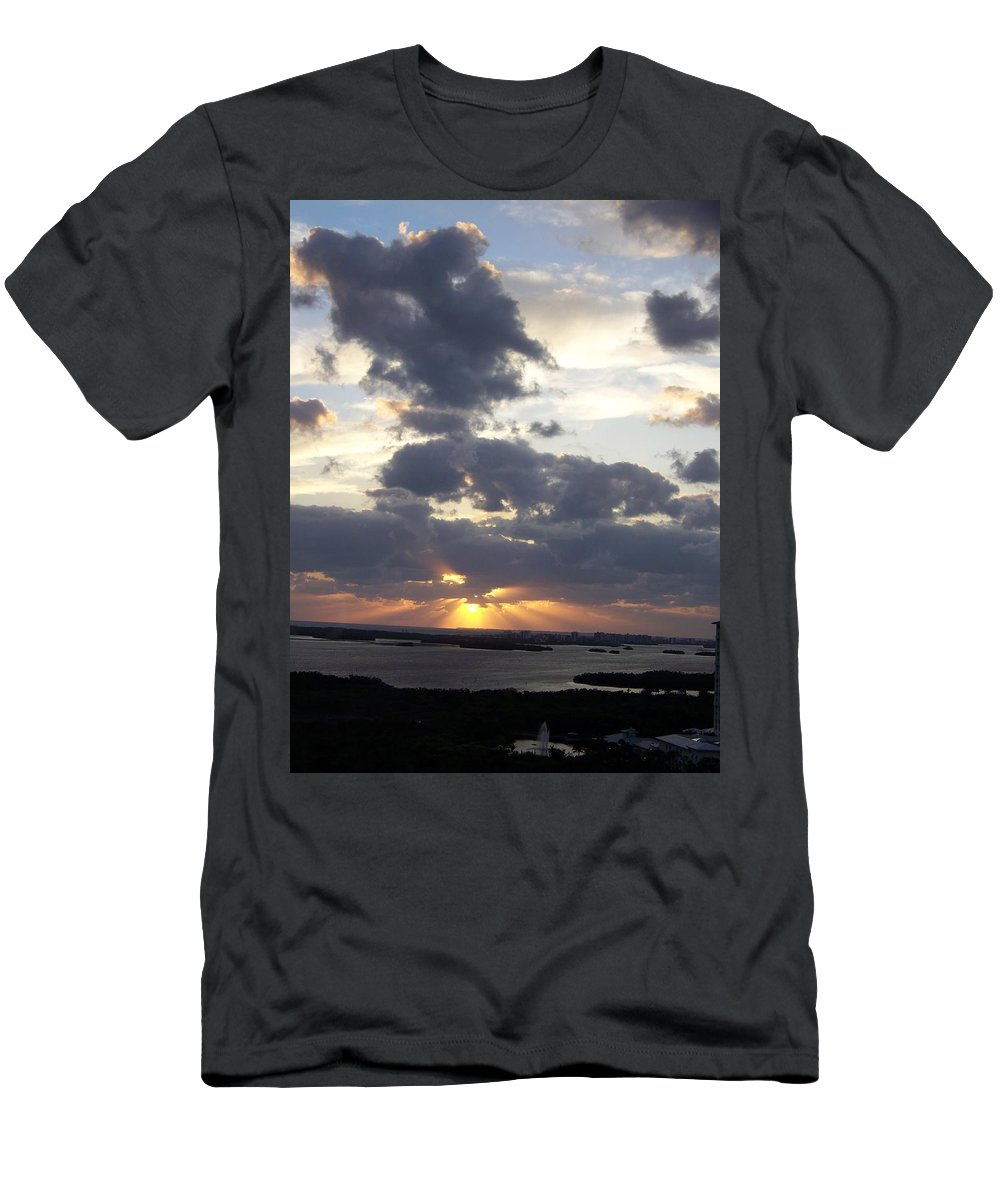 Sunset Men's T-Shirt (Athletic Fit) featuring the photograph Sunset 0046 by Laurie Paci