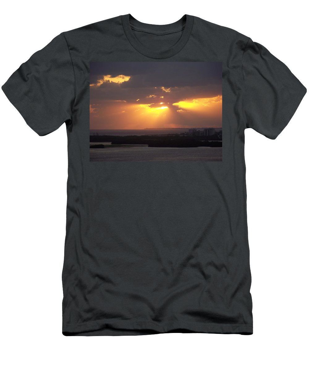 Sunset Men's T-Shirt (Athletic Fit) featuring the photograph Sunset 0047 by Laurie Paci