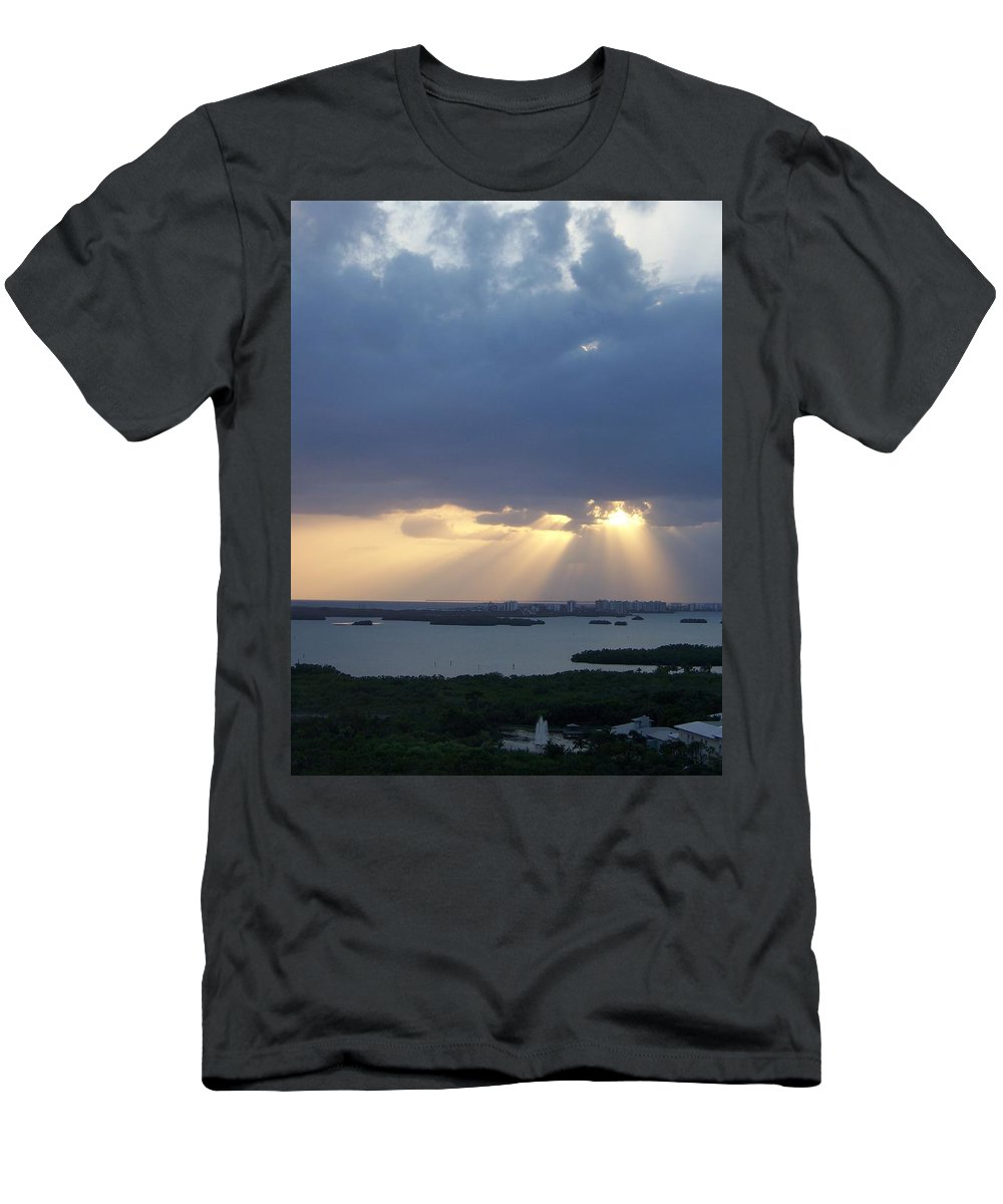 Sunset Men's T-Shirt (Athletic Fit) featuring the photograph Sunset 0048 by Laurie Paci