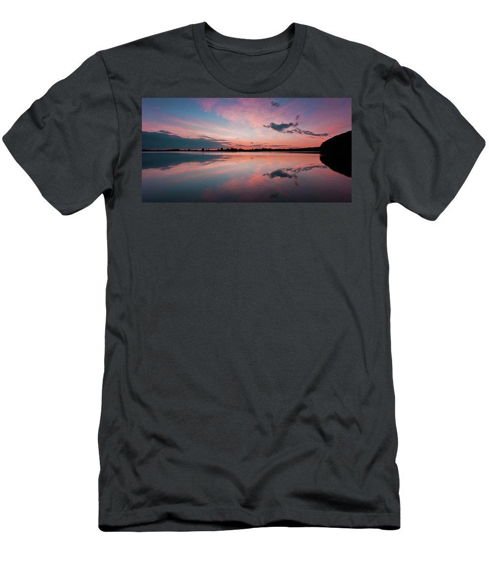 Sunrise T-Shirt featuring the photograph Sunset at Anglezarke Reservoir #4, Rivington, Lancashire, North West England by Anthony Lawlor