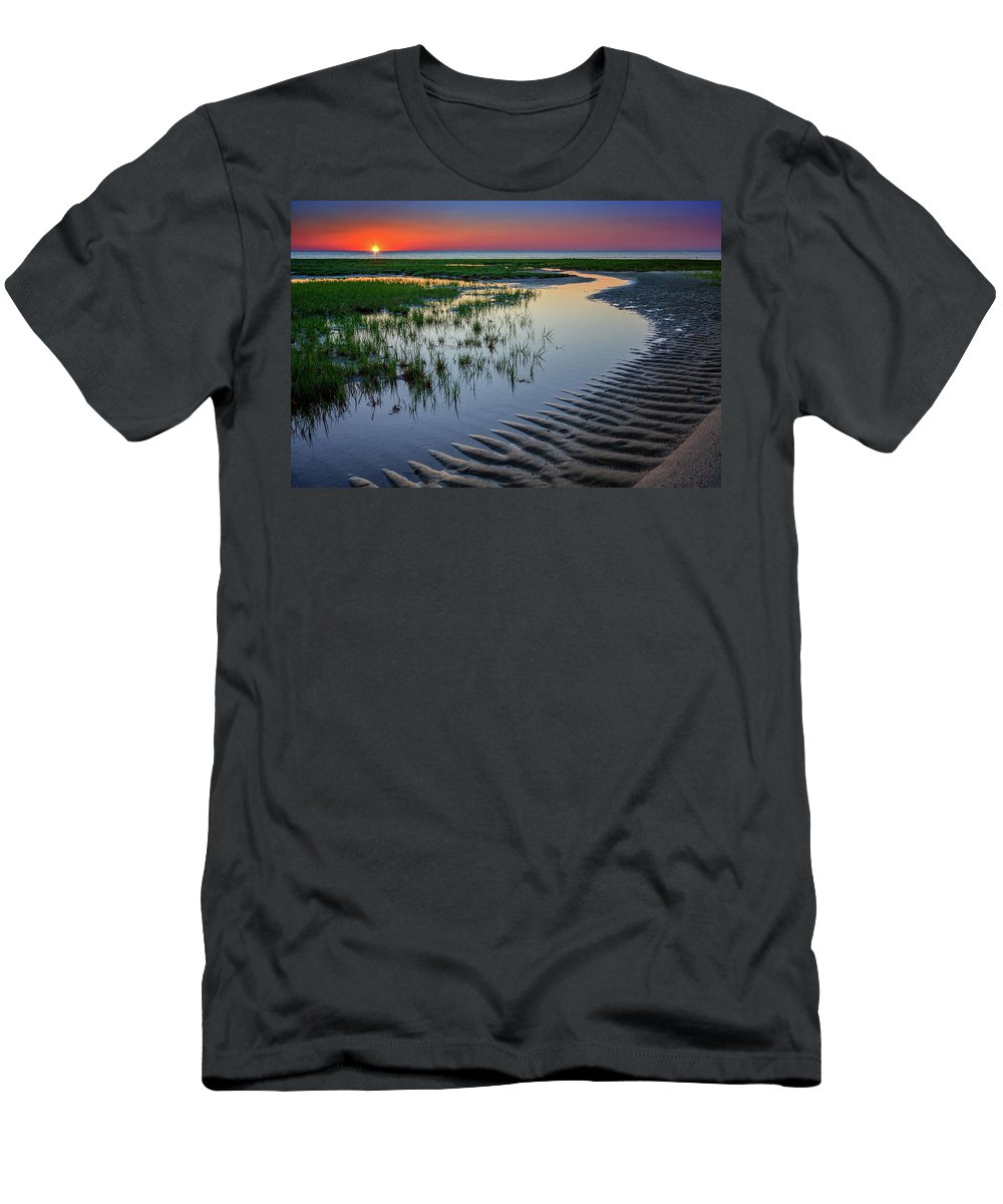 Cape Cod Men's T-Shirt (Athletic Fit) featuring the photograph Sunset On Cape Cod by Rick Berk