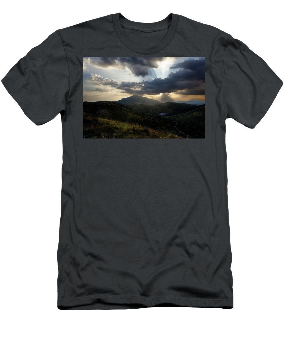 Indian Springs T-Shirt featuring the photograph Sunset over Indian Springs by Roy Nierdieck