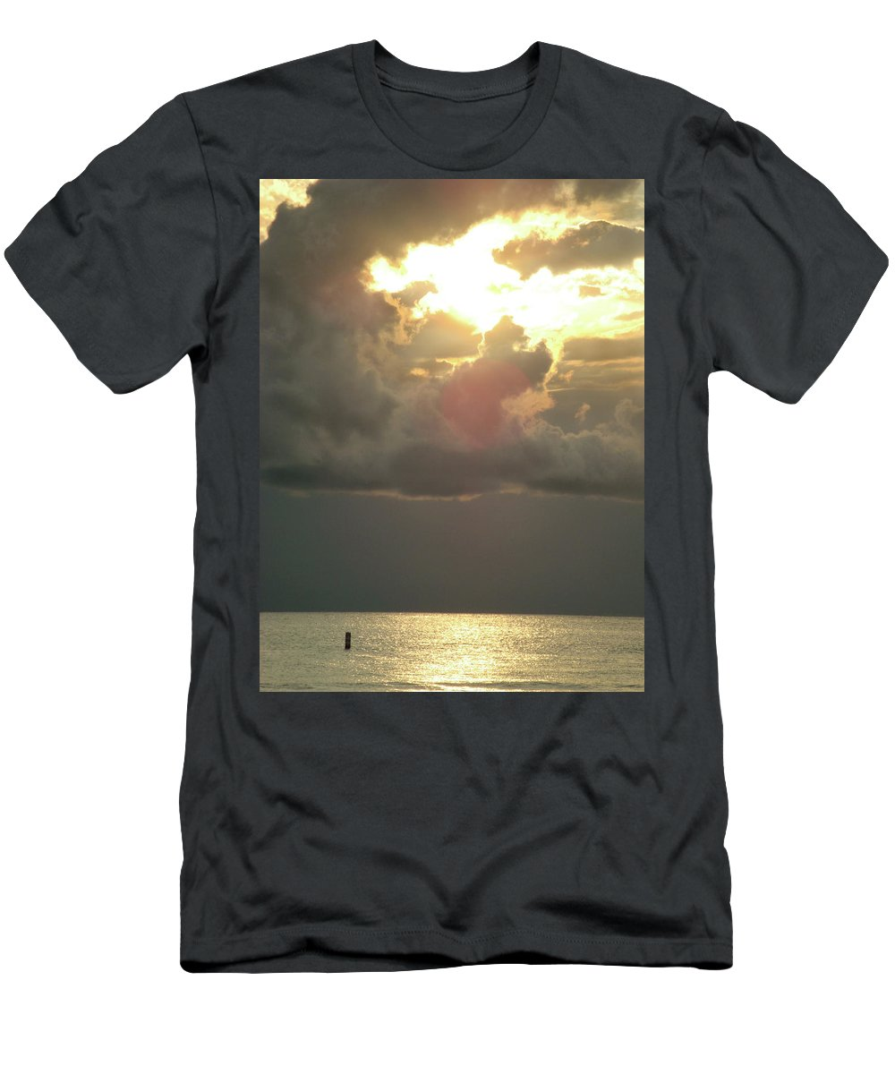 Ocean Men's T-Shirt (Athletic Fit) featuring the photograph Sunset Over Venice by Cathi Abbiss Crane