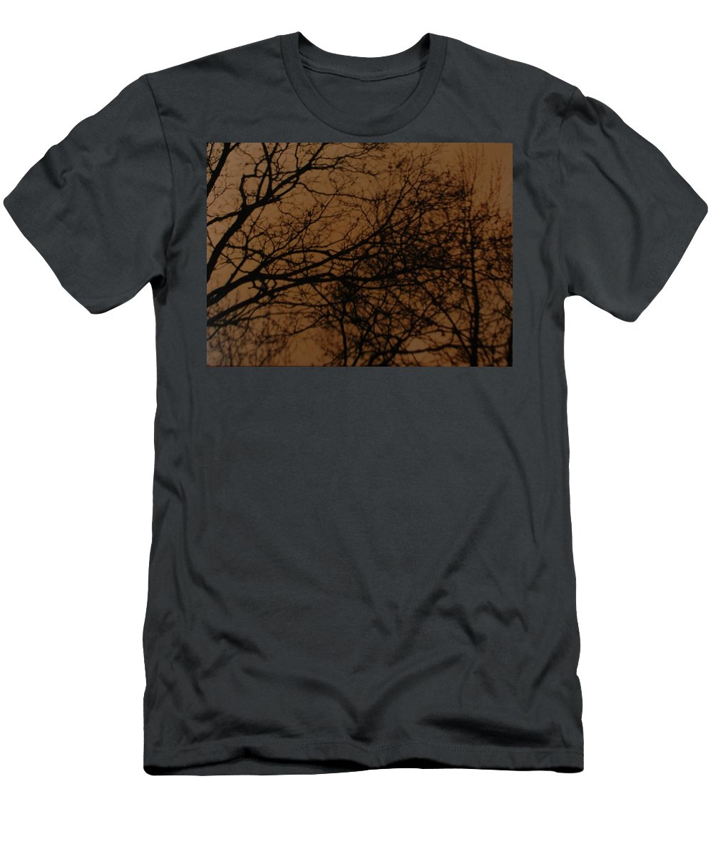 Landscape Men's T-Shirt (Athletic Fit) featuring the photograph Sunset Winter by Rob Hans