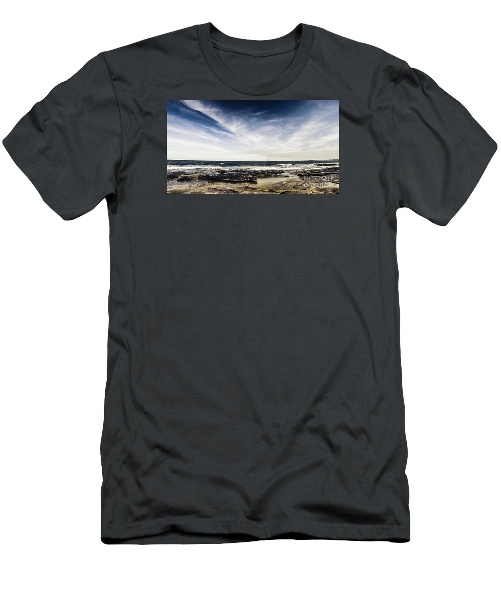 Landscape Men's T-Shirt (Athletic Fit) featuring the photograph Sunshine Coast Landscape by Jorgo Photography - Wall Art Gallery
