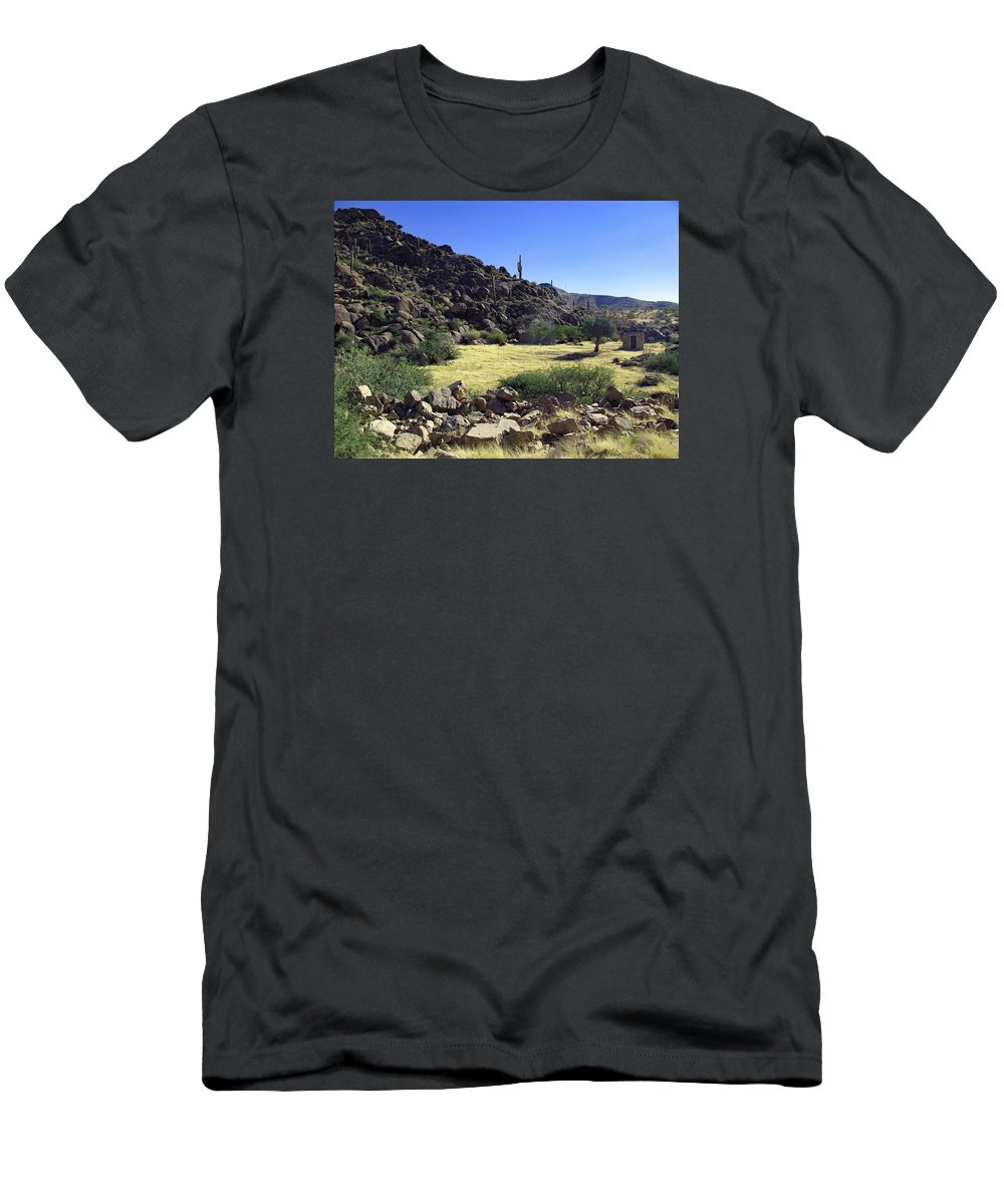 Ghost Town Men's T-Shirt (Athletic Fit) featuring the photograph Sunup In Ghost Town by Rachel Knight