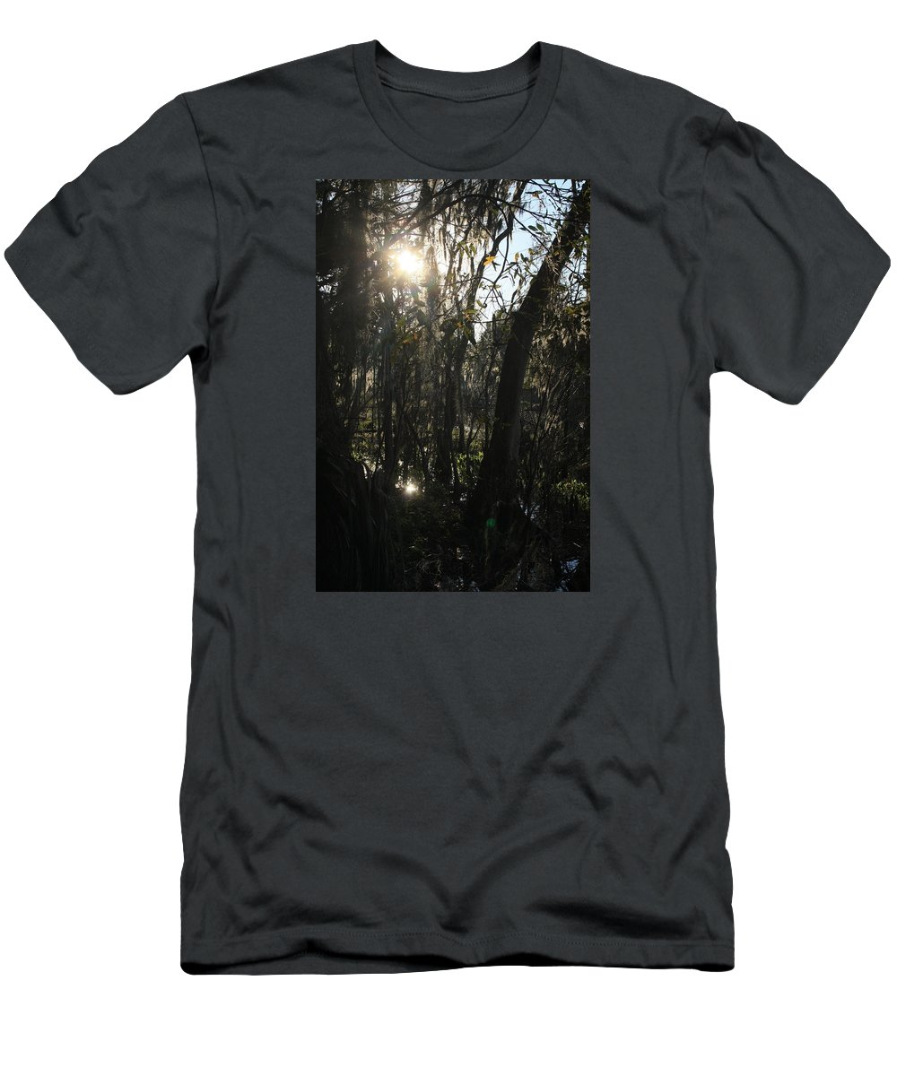 Woods Men's T-Shirt (Athletic Fit) featuring the photograph Sunwood by Elsie Figuora