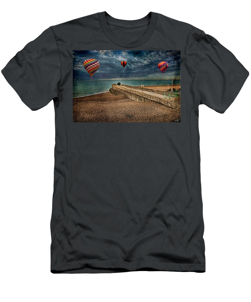Beach Men's T-Shirt (Athletic Fit) featuring the digital art Surreal Beach by Chris Lord