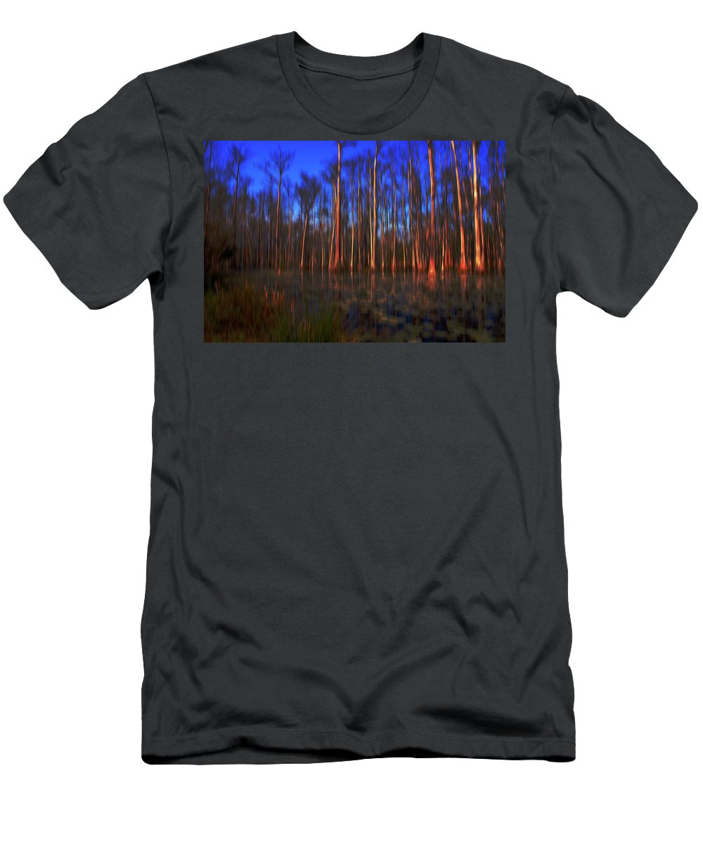 Swamp Men's T-Shirt (Athletic Fit) featuring the photograph Swamp In Cypress Gardens by Susanne Van Hulst