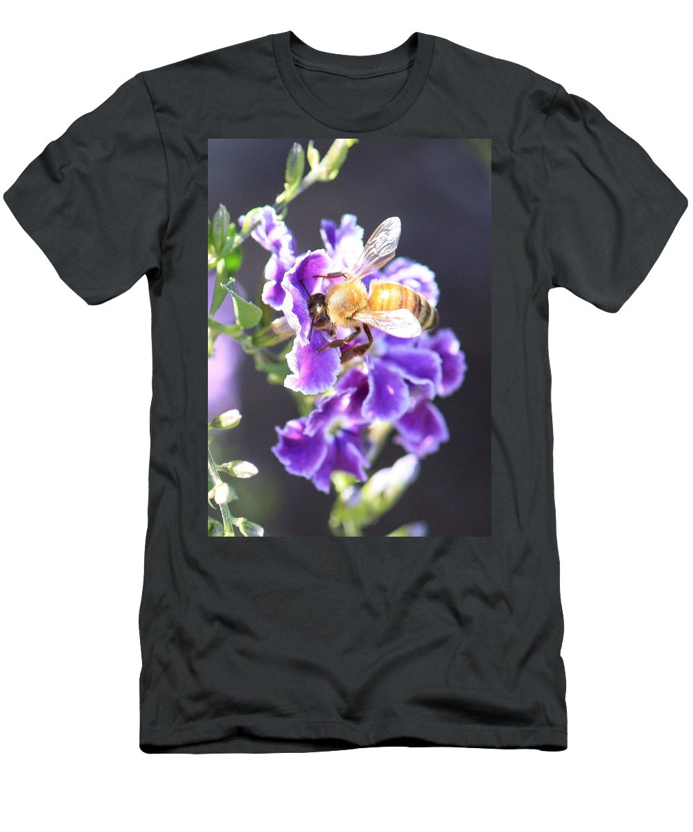 Bee Men's T-Shirt (Athletic Fit) featuring the photograph Sweet Bee by Carol Groenen