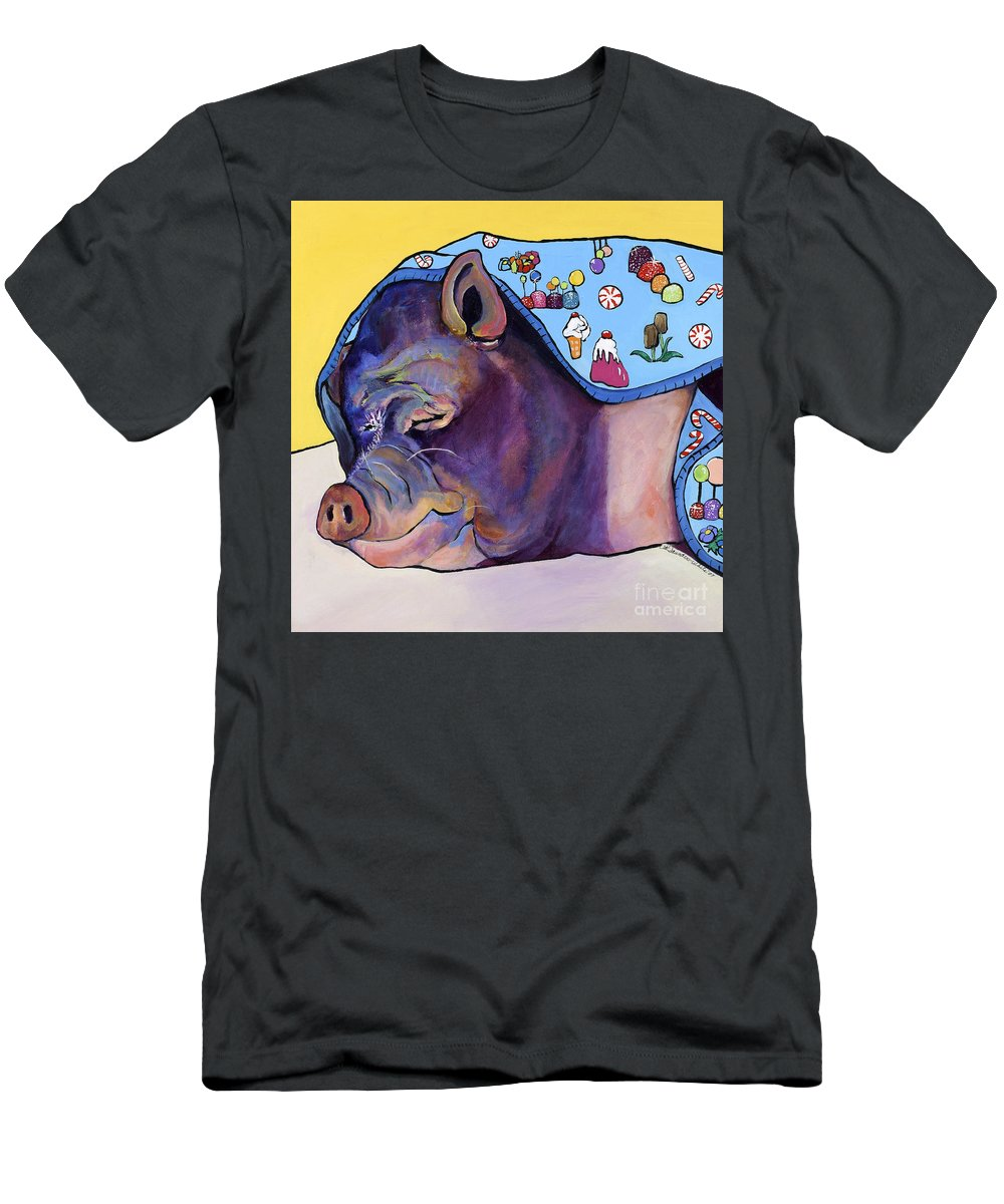 Farm Animal T-Shirt featuring the painting Sweet Dreams by Pat Saunders-White