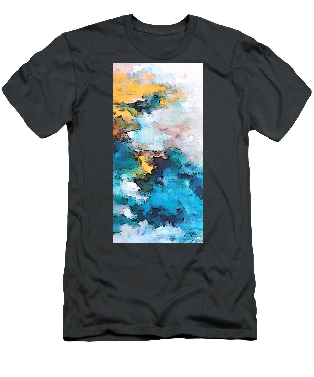 Abstract Men's T-Shirt (Athletic Fit) featuring the digital art Sweet Memory Shades by Linda Mears
