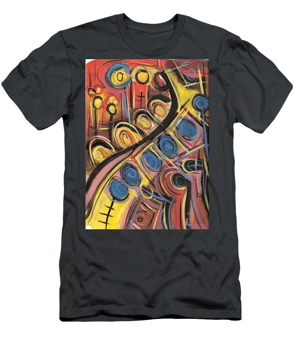 Abstract Painting Men's T-Shirt (Athletic Fit) featuring the painting Sweet Music by Americo Salazar