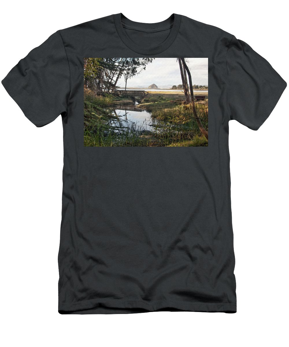 Park Men's T-Shirt (Athletic Fit) featuring the digital art Sweet Water Park by Sharon Foster