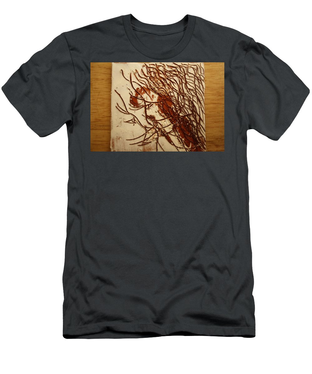 Jesus Men's T-Shirt (Athletic Fit) featuring the ceramic art Sweethearts 19 - Tile by Gloria Ssali