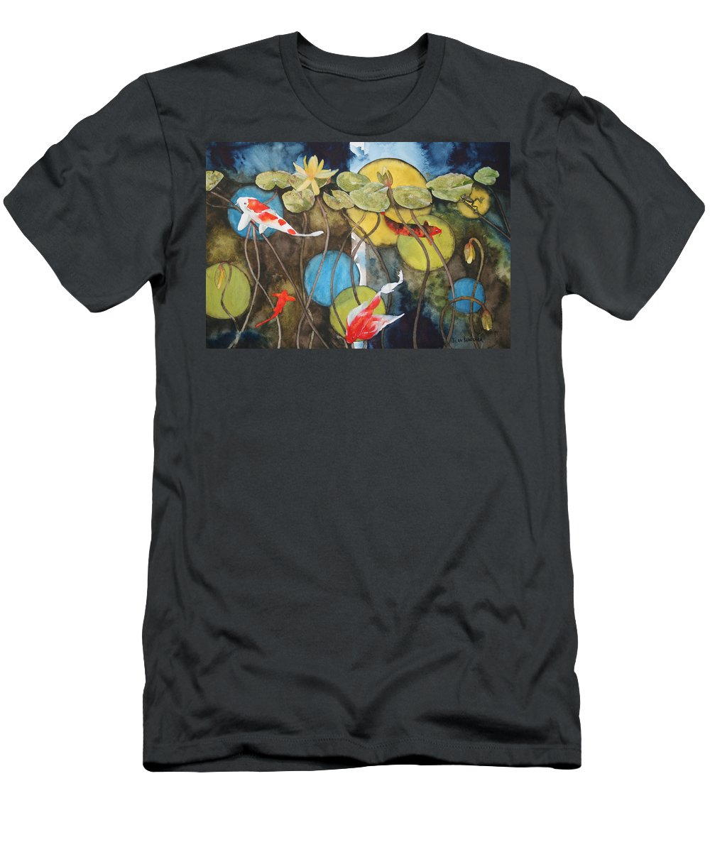 Abstract Men's T-Shirt (Athletic Fit) featuring the painting Swimming In Circles by Jean Blackmer