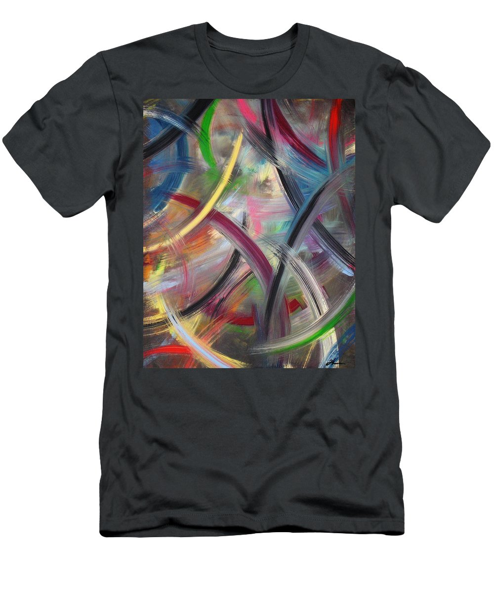 Acrylic Men's T-Shirt (Athletic Fit) featuring the painting Swish by Todd Hoover