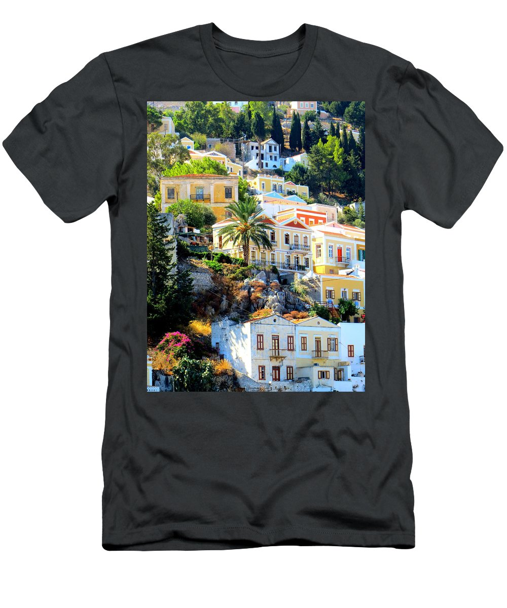 Symi Men's T-Shirt (Athletic Fit) featuring the photograph Symi Greece by Adrian Cooch