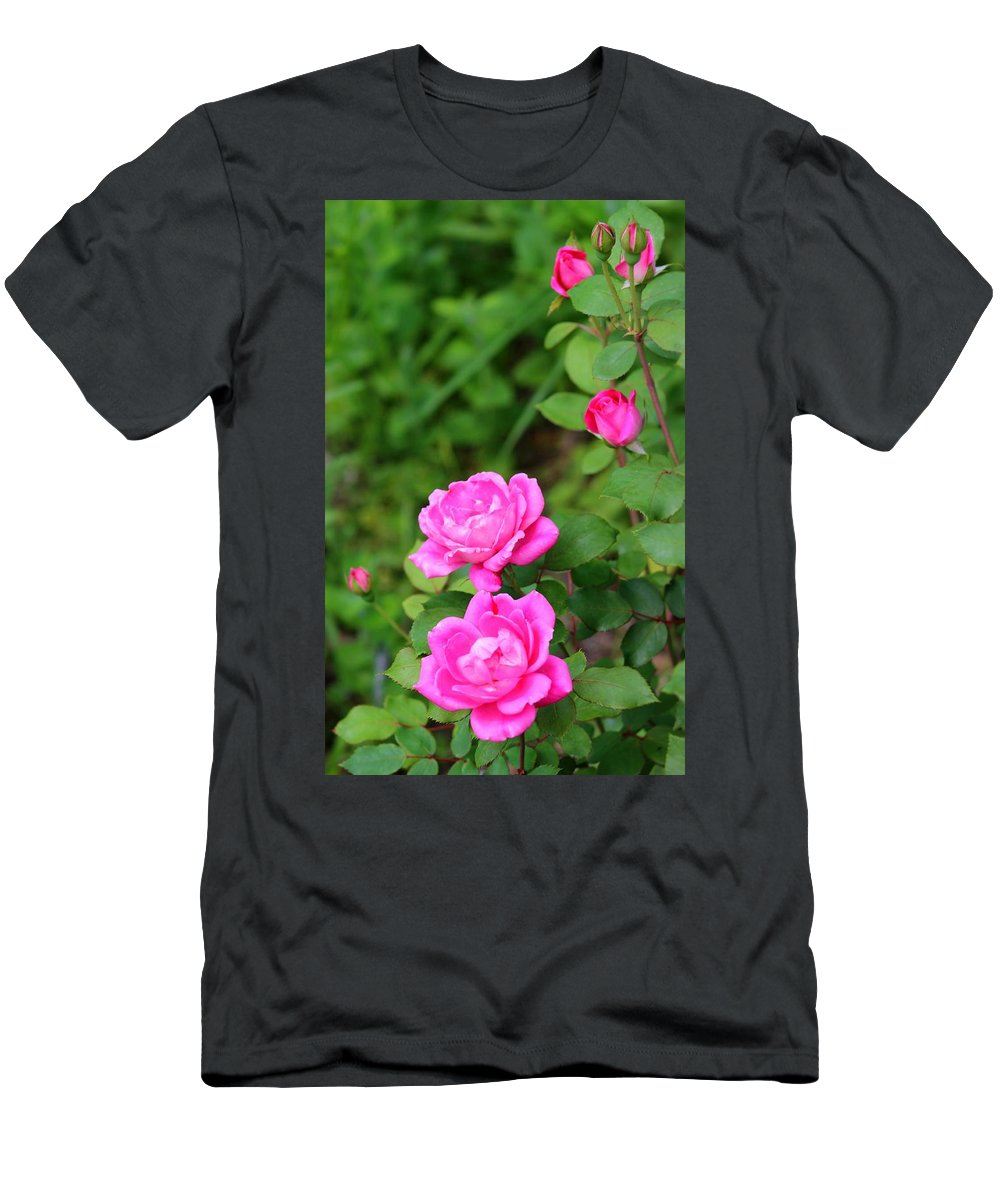 Rose Men's T-Shirt (Athletic Fit) featuring the photograph Symmetry by Susan Lotterer
