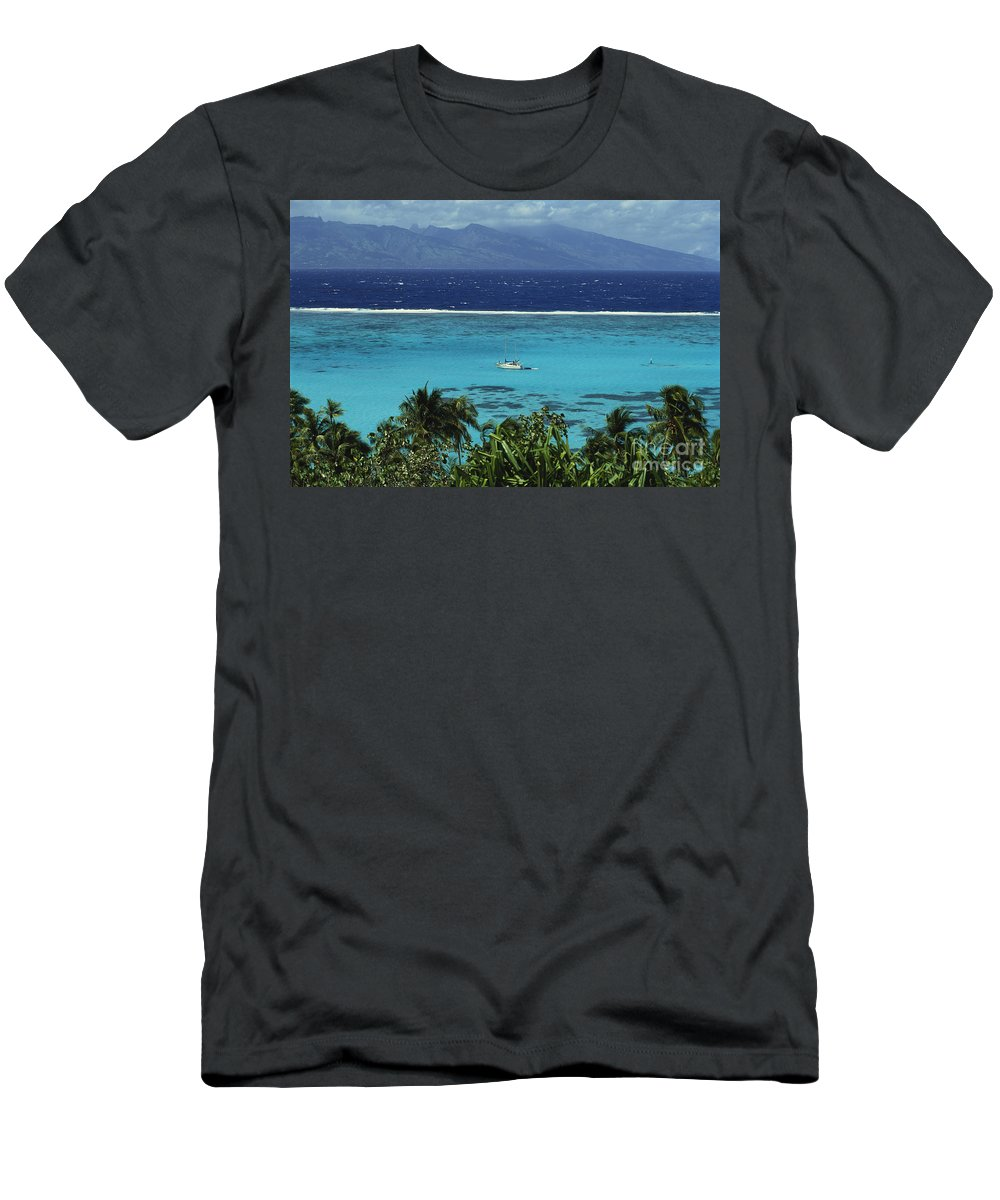 Afternoon Men's T-Shirt (Athletic Fit) featuring the photograph Tahiti, Moorea by Erik Aeder - Printscapes