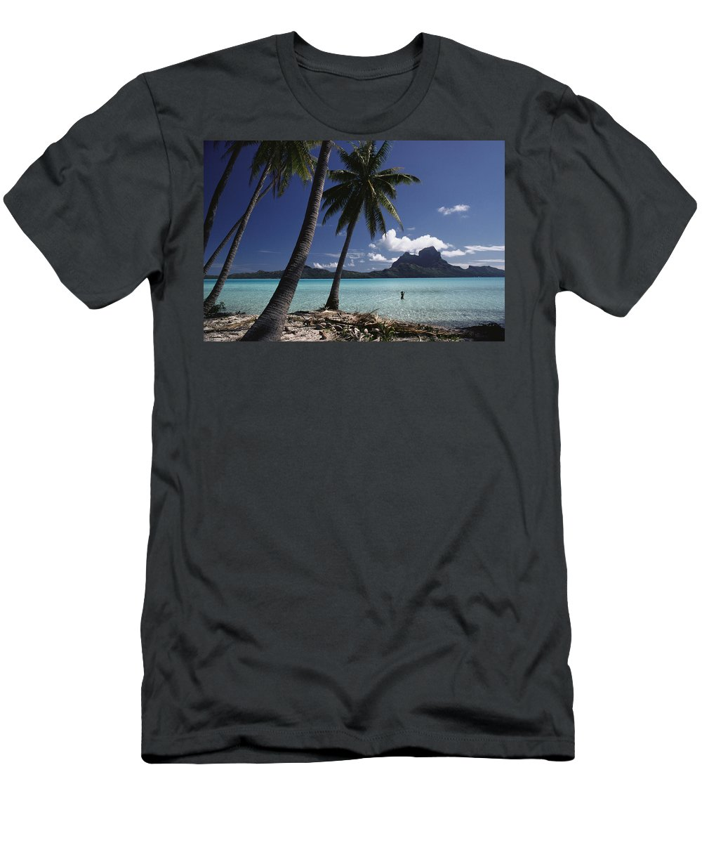 Afternoon Men's T-Shirt (Athletic Fit) featuring the photograph Tahiti View by David Cornwell/First Light Pictures, Inc - Printscapes