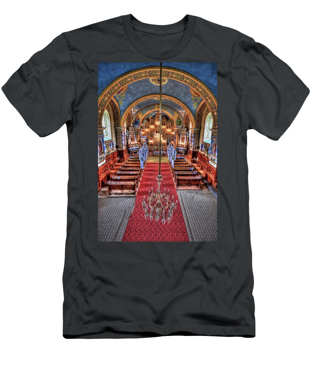 Church Men's T-Shirt (Athletic Fit) featuring the photograph Take A Seat by Evelina Kremsdorf