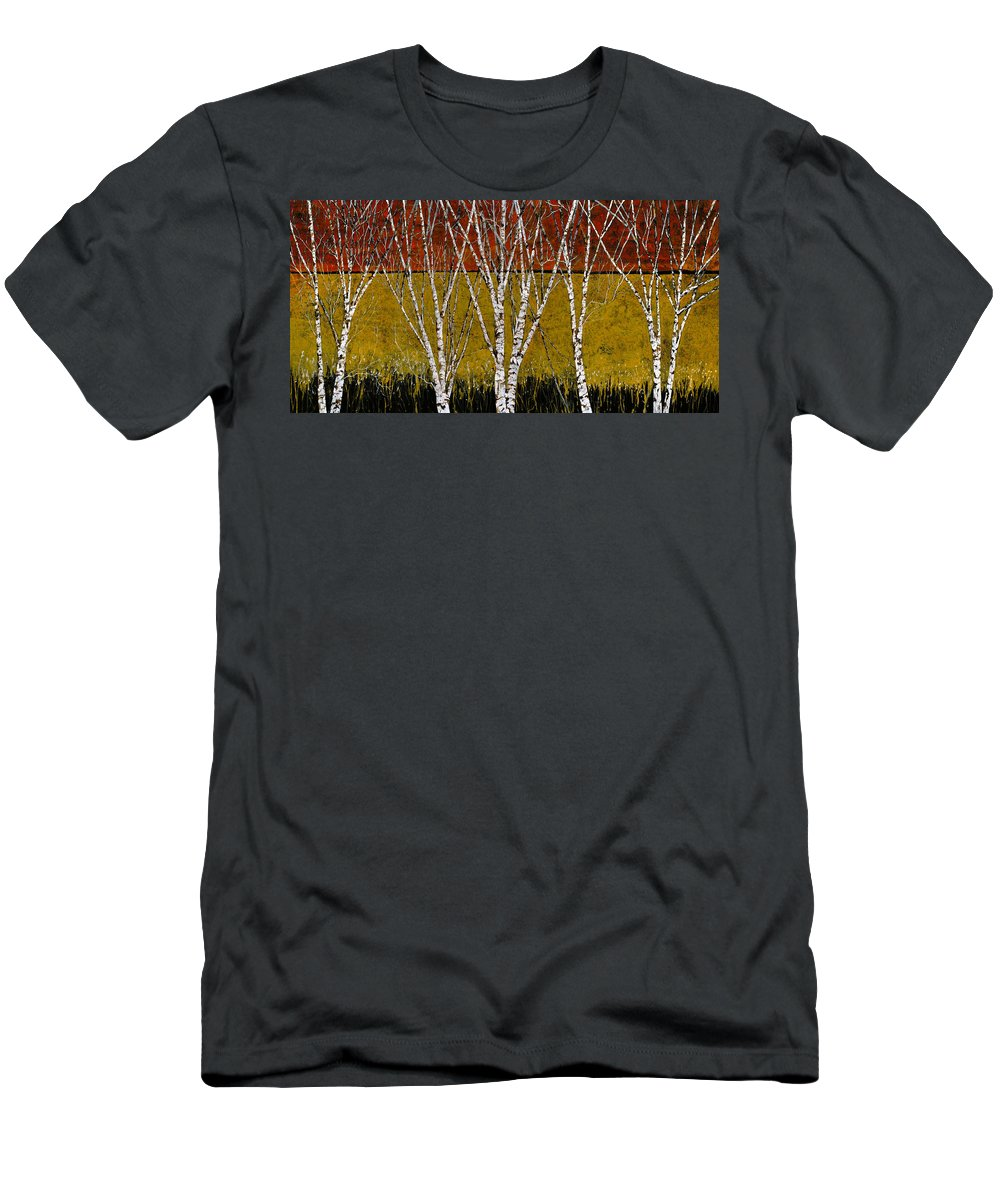 Birches T-Shirt featuring the painting Tante Betulle by Guido Borelli
