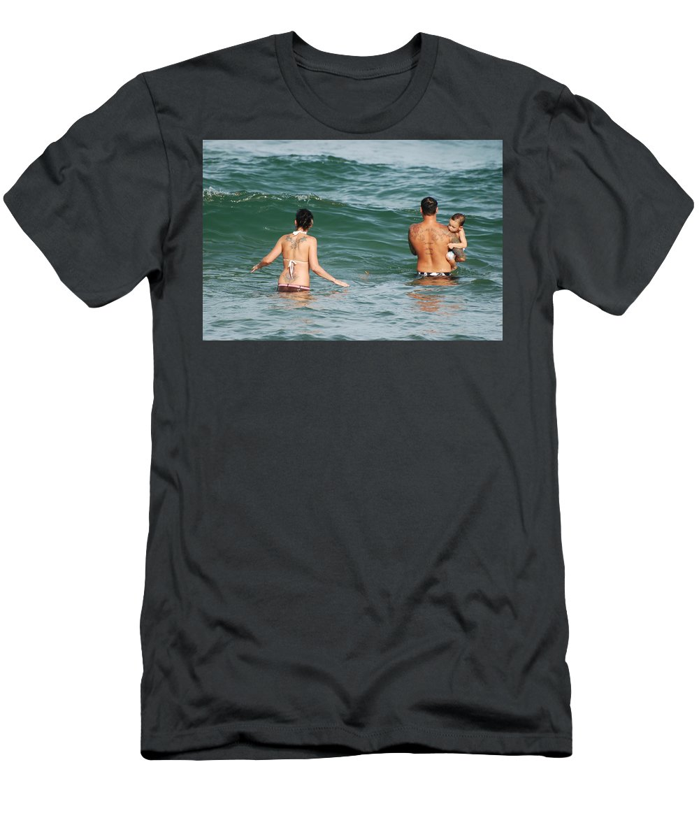 Sea Scape Men's T-Shirt (Athletic Fit) featuring the photograph Tattoo Family by Rob Hans